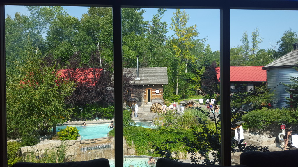 Spending the day at Scandinavian Spa in Blue Mountain