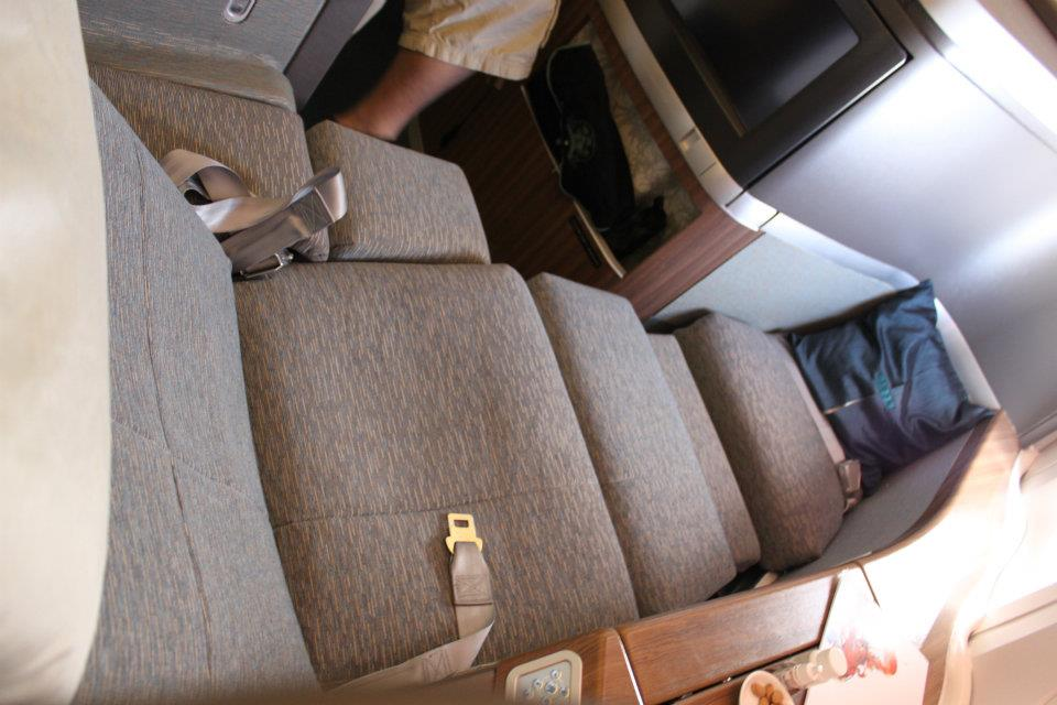 1st class seat. more like a bed! Good for that 15 hour flights