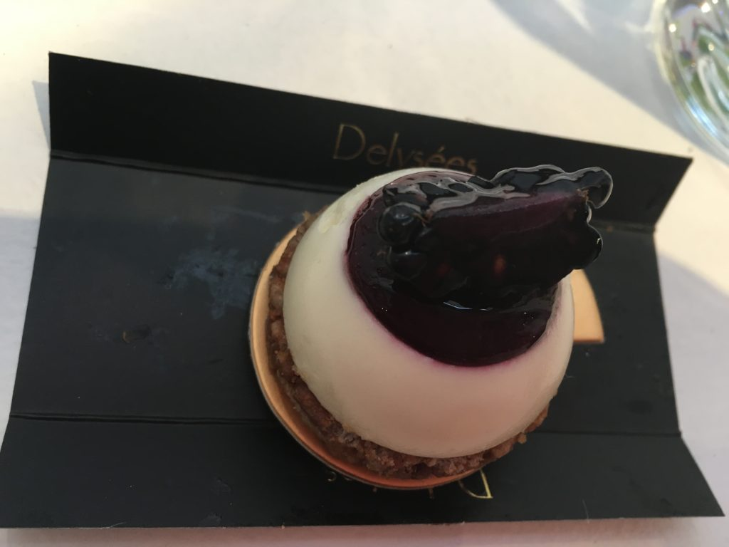 blueberry cheesecake at summer rendezvous at dj at delysee french pastries