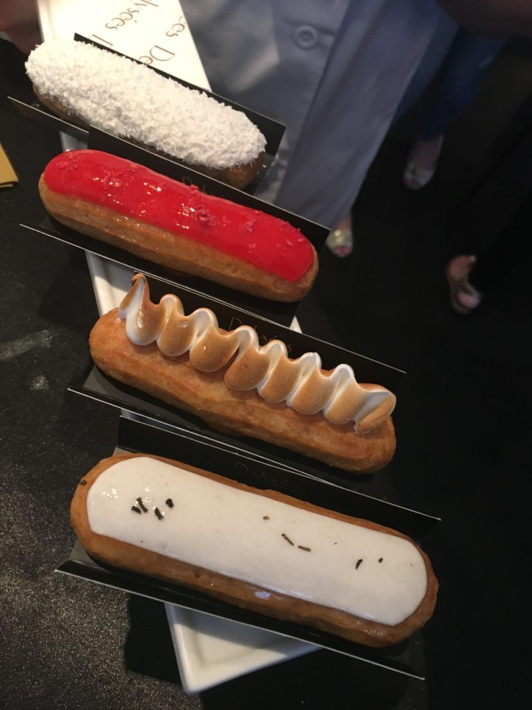 eclair at macaron at blueberry cheesecake at summer rendezvous at dj at delysee french pastries
