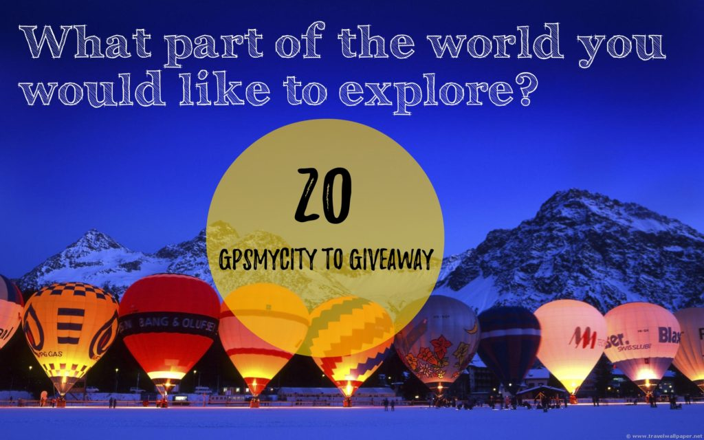 Wanderlust, Keep travelling! GPSmyCITY's Giveaway!!