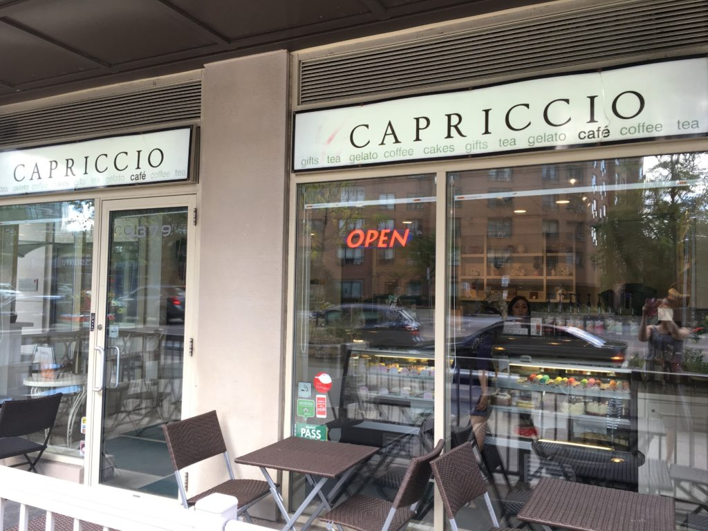 petite and pretty visits capriccio cafe