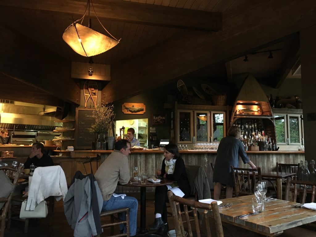 cabin feel restaurant at river cafe calgary