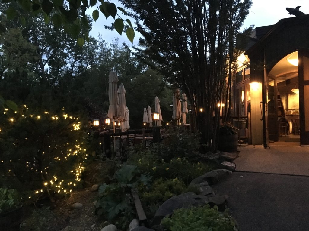 enchanted garden at river cafe calgary