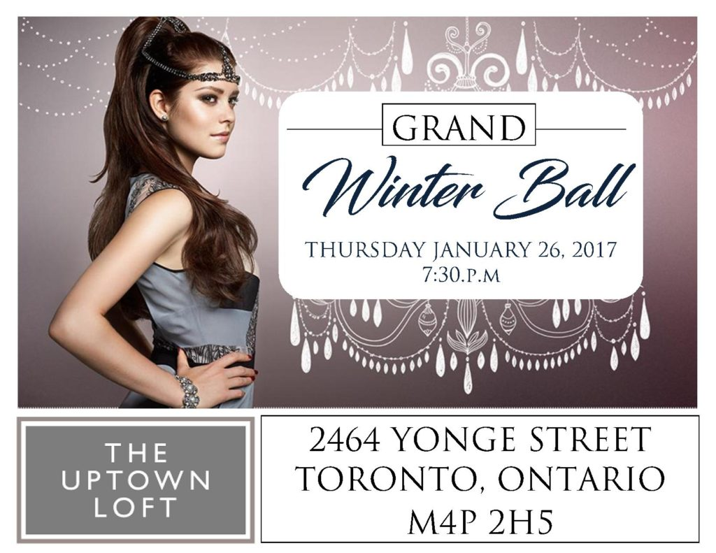 Cocktail Crawl Presents: Grand Winter Ball – Networking Event – January 26, 2017