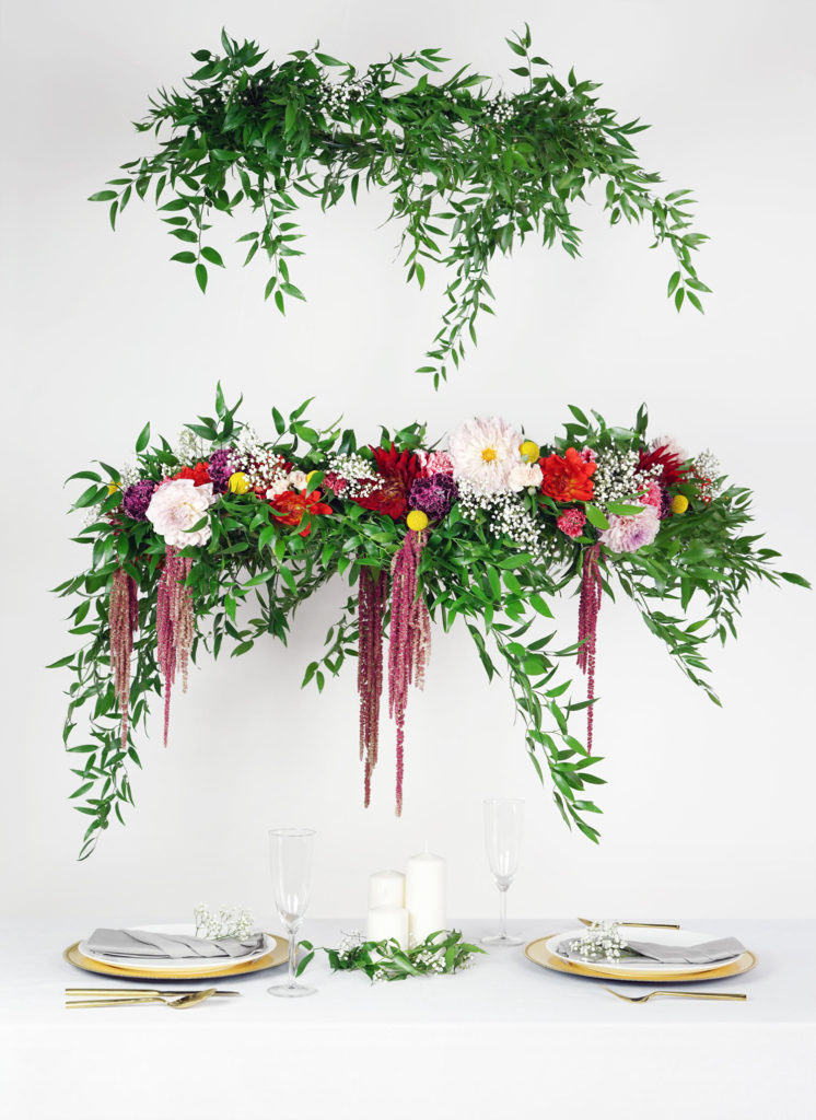 Flower Chandeliers for your next DIY party
