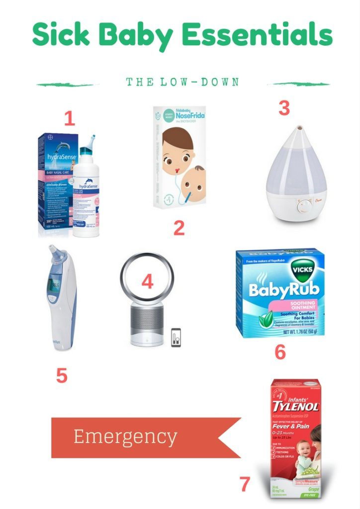 Sick baby is no fun! Top 5 Sick Baby Essentials