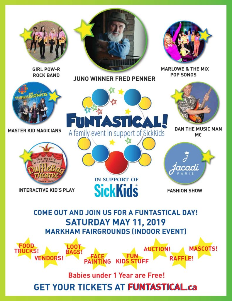 GIVEAWAY** FUNTASTICAL- Largest family musical event for SickKids