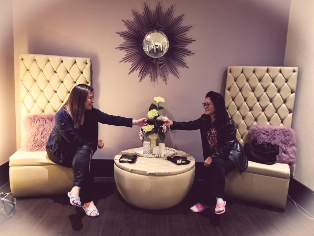 Mom & Daughter beauty date at the famous Jenny Wong Beauty Spa