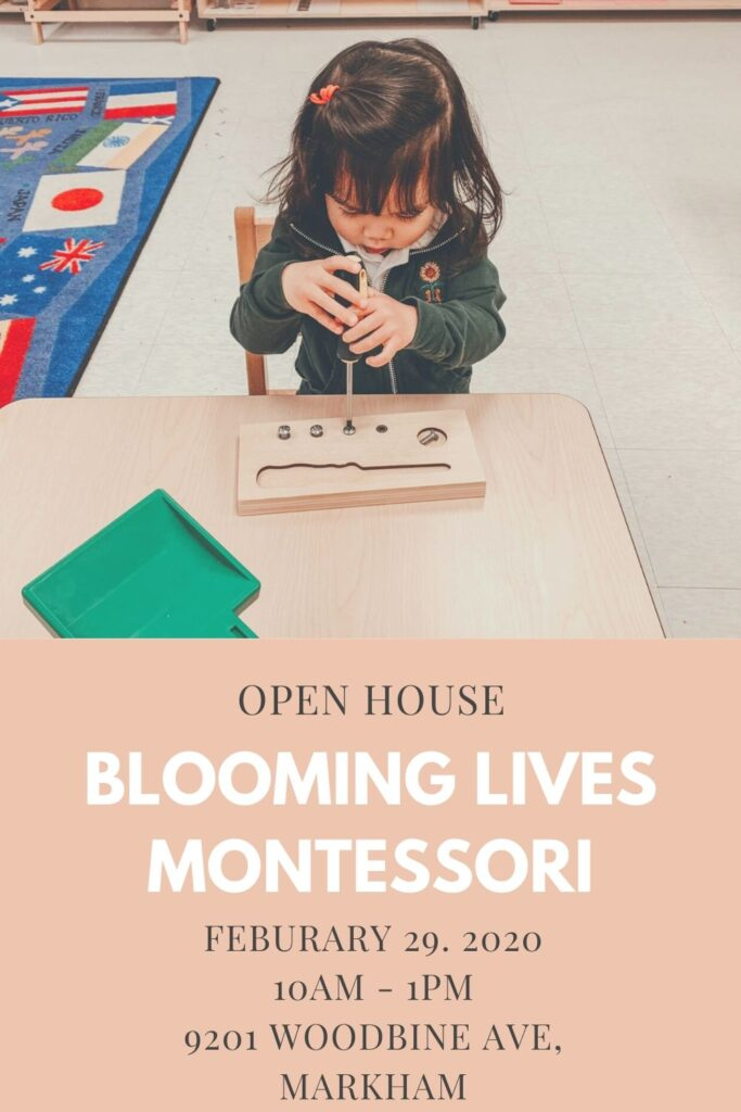 Blooming Lives Montessori Open House: February 29, 2020