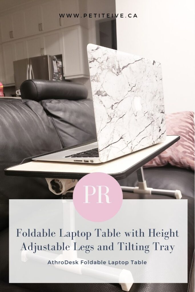 PRODUCT REVIEW: Foldable Laptop Table with Height Adjustable Legs and Tilting Tray
