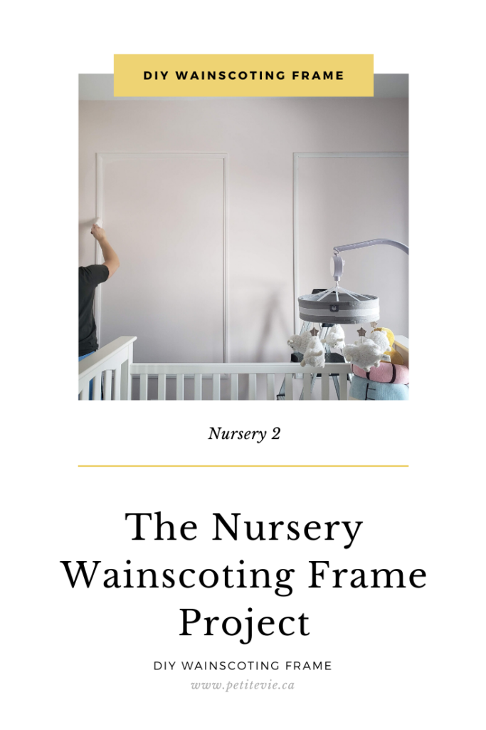 The Nursery Wainscoting Frame Project
